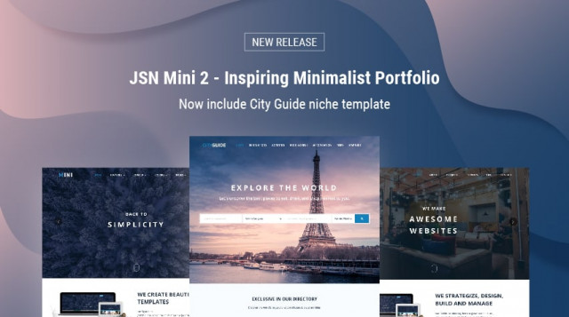 [New release] CityGuide - Ideal Joomla template for travel and tourism