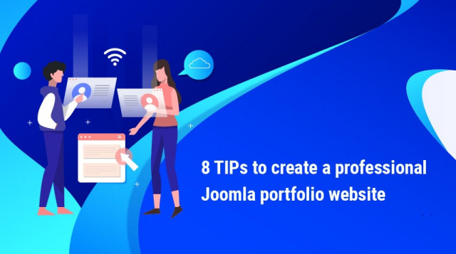 [Infographic] 8 tips to create a professional Joomla portfolio website