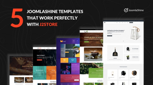 Top 5 rated JoomlaShine eCommerce templates that work perfectly with J2Store