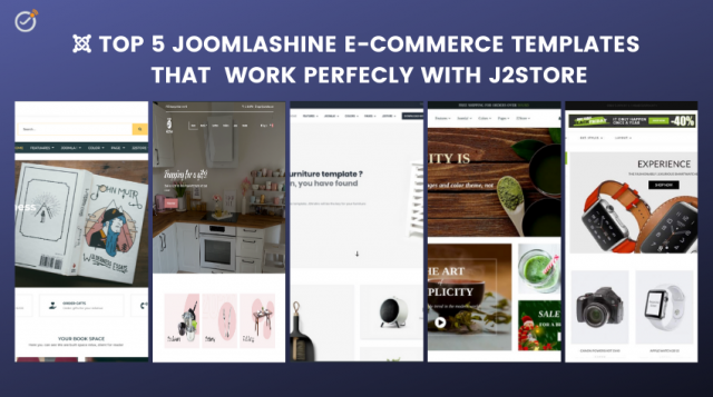 Top 5 JoomlaShine E-Commerce templates that work perfectly with J2Store