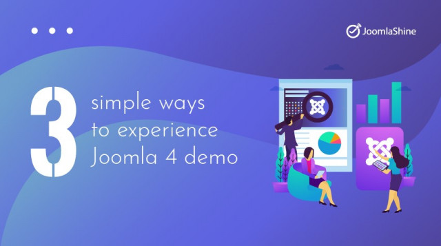 3 simple ways to experience Joomla 4 demo