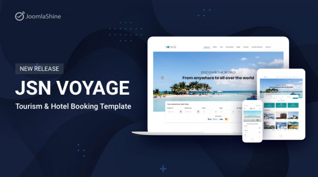 JSN Voyage - Joomla Tourism & Hotel Booking Template