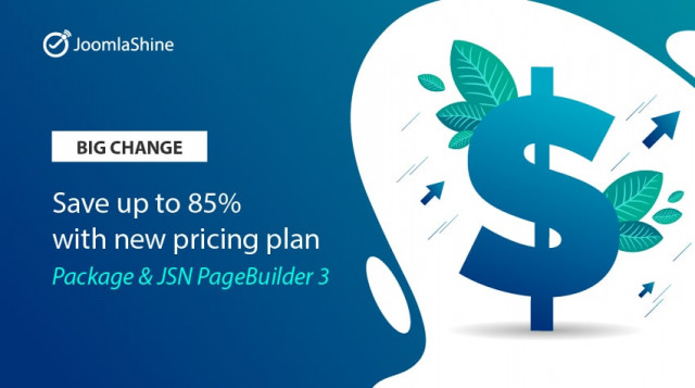 [Big Change] Package + JSN PageBuilder 3 - Save up to 85% with a new pricing plan