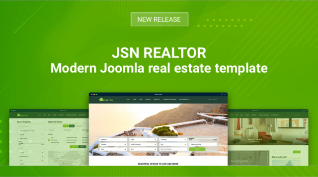 JSN Realtor - Modern Joomla real estate template
