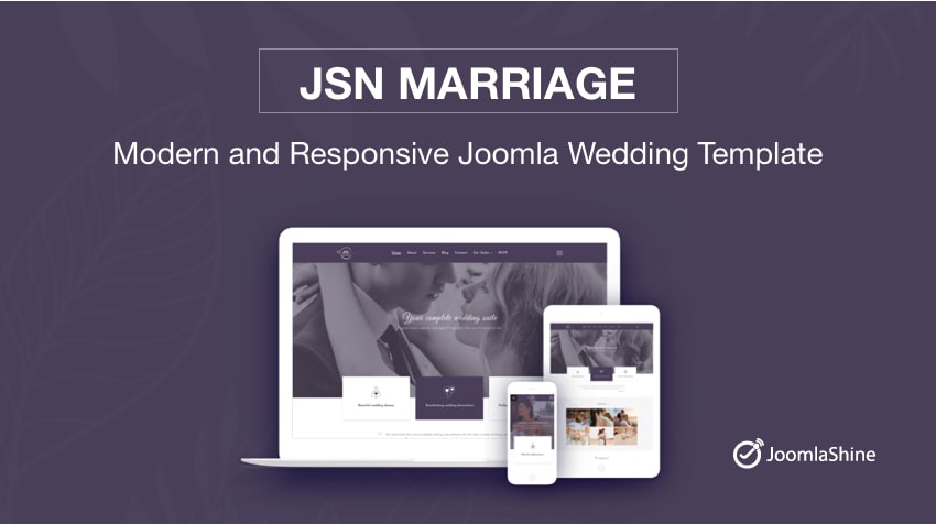 Introducing JSN Marriage - Delicate Joomla Wedding Template