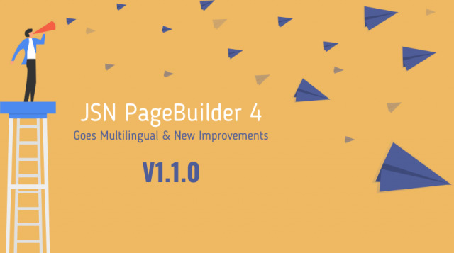 JSN PageBuilder 4 Version 1.1.0 - Goes Multilingual, New Improvements and Fixes