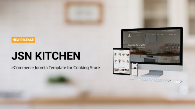 JSN Kitchen - eCommerce Joomla Template for Cooking Store