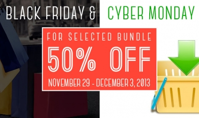 Black Friday & Cyber Monday with 50% discount for selected bundles!