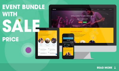 JSN Venture template for your pulse party! Special sale for the bundle with Ohanah extension