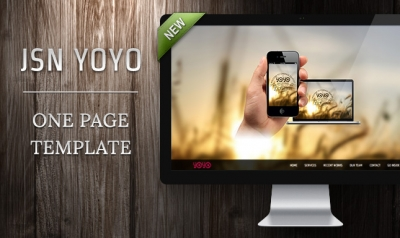 JSN Yoyo – our first one-page template is on hand!
