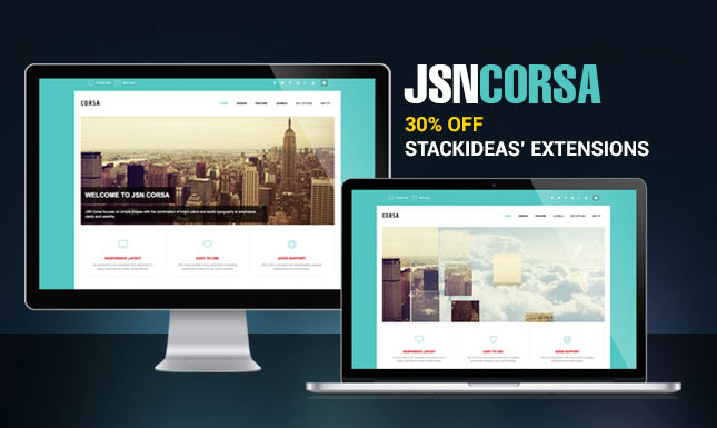 JSN Corsa - Leverage your social website with 30% OFF StackIdeas' extensions.