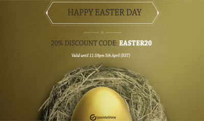 EASTER Deal: 20% OFF on all JoomlaShine Products