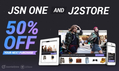 JSN One - An Outstanding eCommerce Template Released. Chance To Get 50% OFF For The Next Purchase.