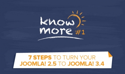 KnowMore #1: Upgrade your Joomla 2.5  website to Joomla 3.x in 7 steps