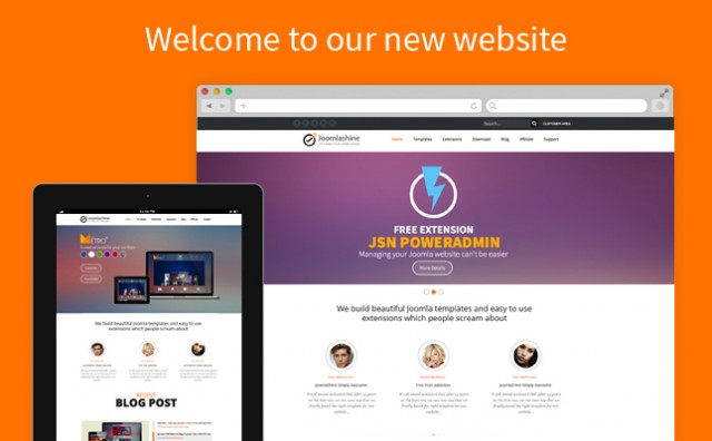 Welcome to our entirely new JoomlaShine website!
