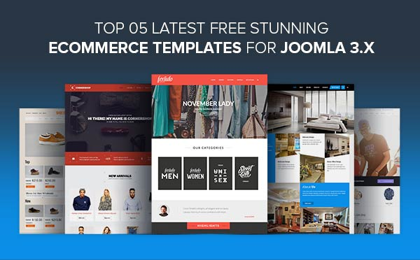 top 5 latest free stunning ecommerce templates for joomla 3x