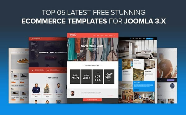 Top 5 Latest Free Stunning eCommerce Templates for Joomla 3.x