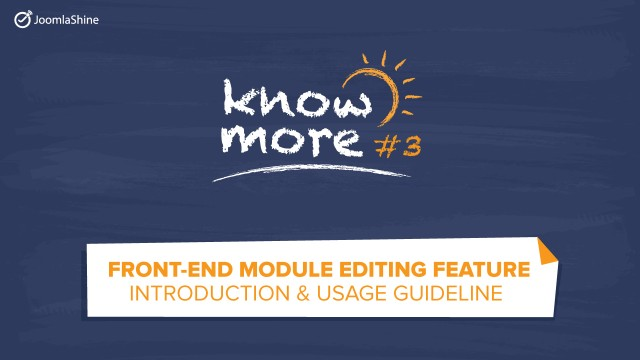 [Video tutorial] How to use front-end module editing on Joomla 3.4