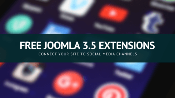 5 best Free Joomla social media  extensions for Joomla 3.5
