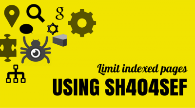 Limit Google indexed pages using sh404SEF