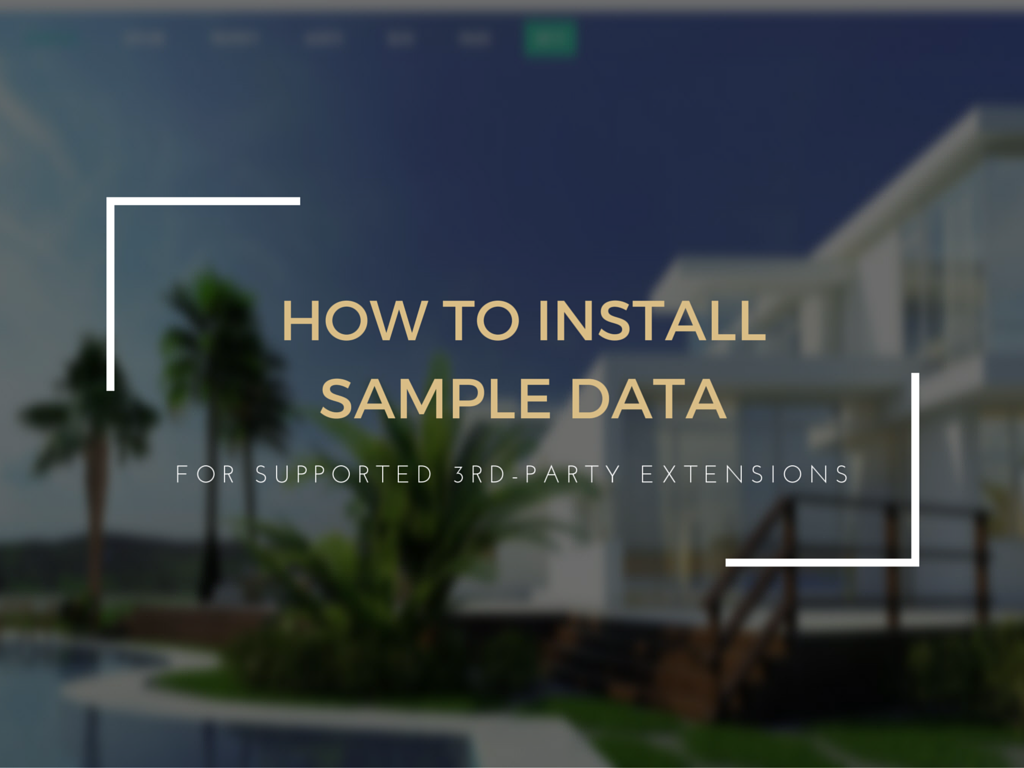how to install sample data with supported third party extensions