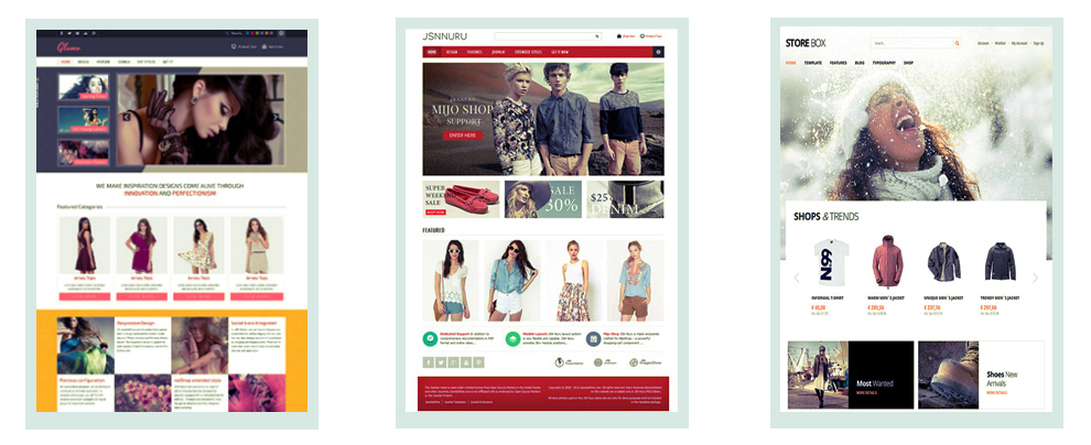 Online Shopping Joomla Templates