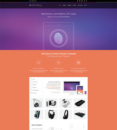 JSN Glass Homepage Design