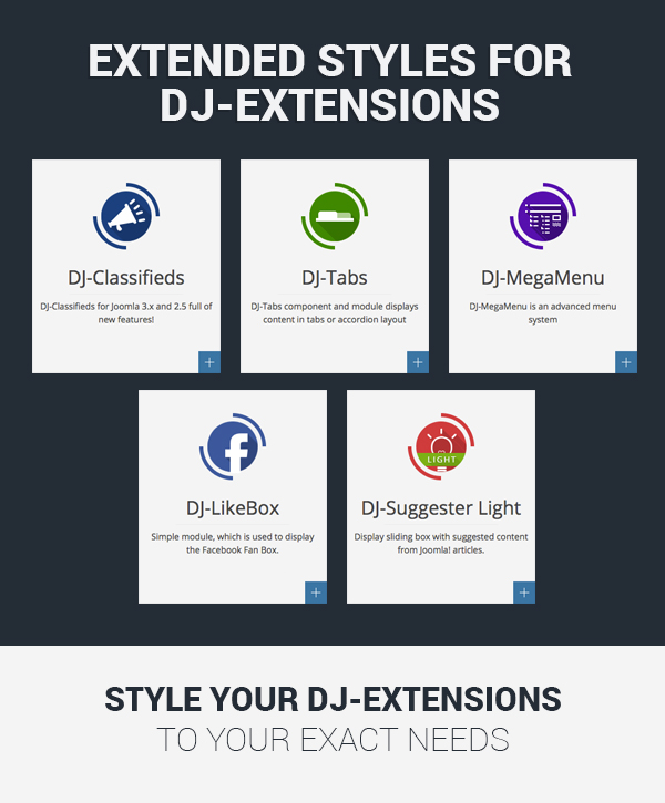 Extended styles for DJ-extensions extensions